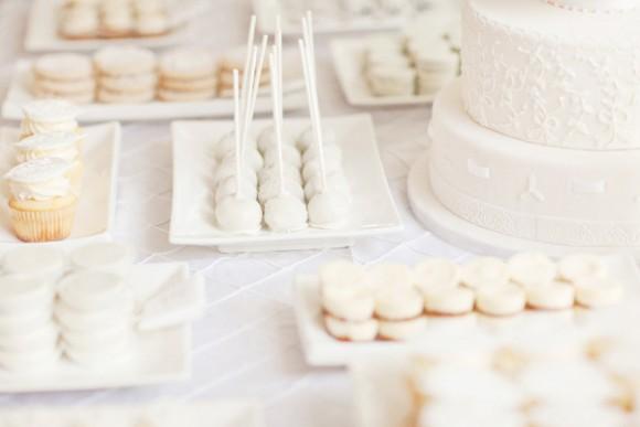 white desserts