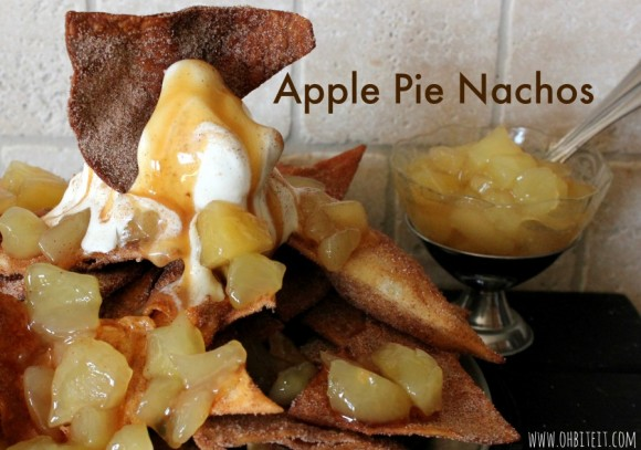 apple pie nachos