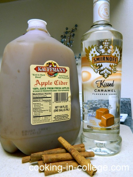 hot carmel apple cider