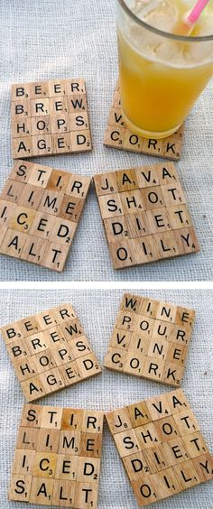 scrable coasters