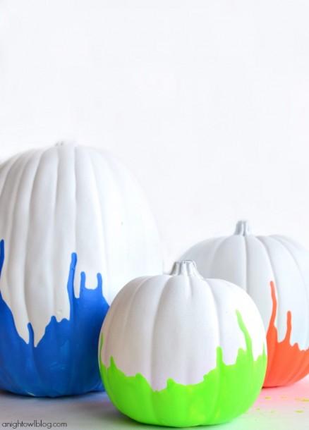 Neon-Paint-Dipped-Pumpkins-4