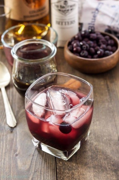 cinnamon blueberry old fashion