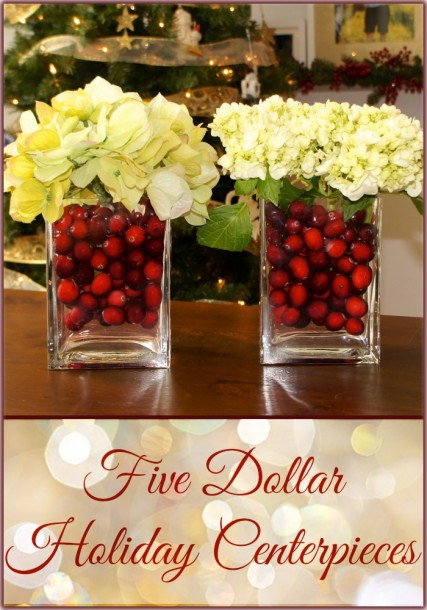 cranberry flower centerpiece