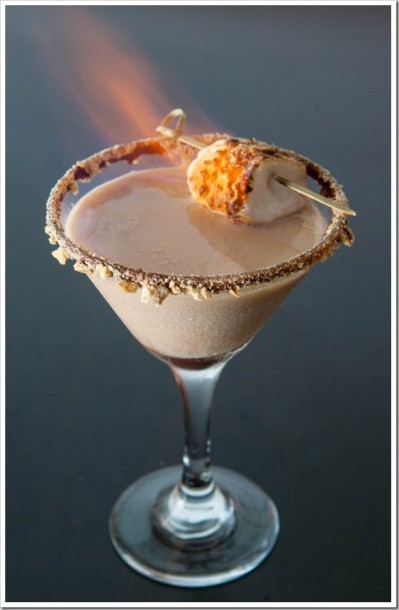 flaming smore martini