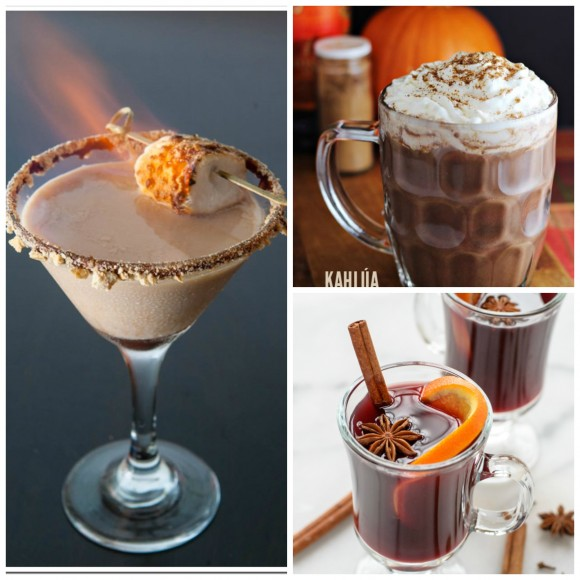 warm drinks Collage
