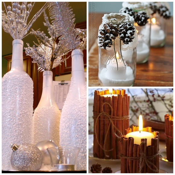 xmas centerpieces collage - Diy Christmas Centerpieces