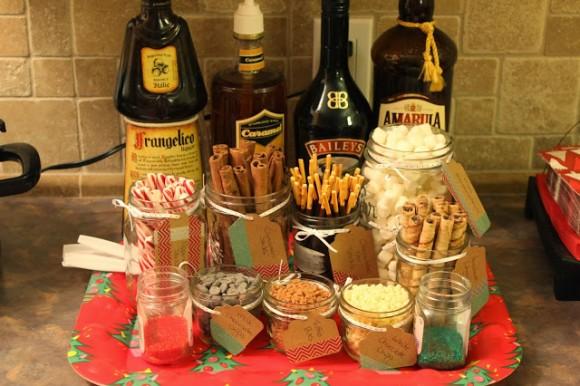 hot chocolate and booze
