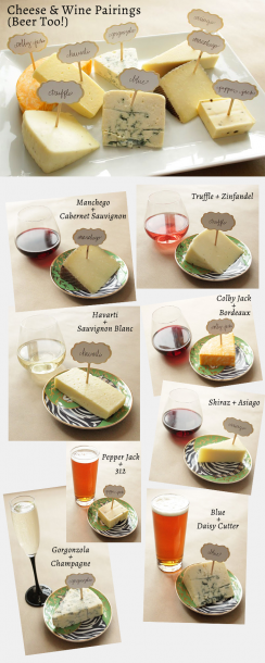 wine and beer and cheese parings