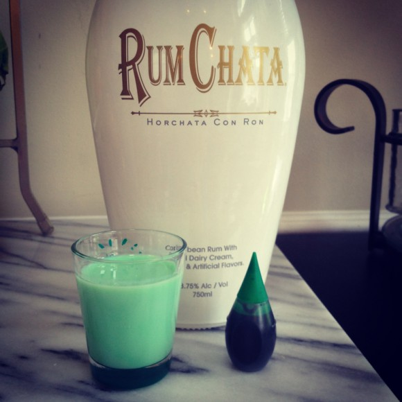 green rumchata shot
