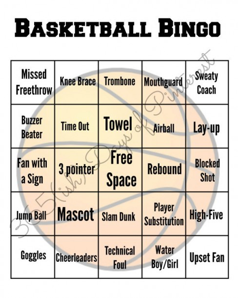 march madness bingo