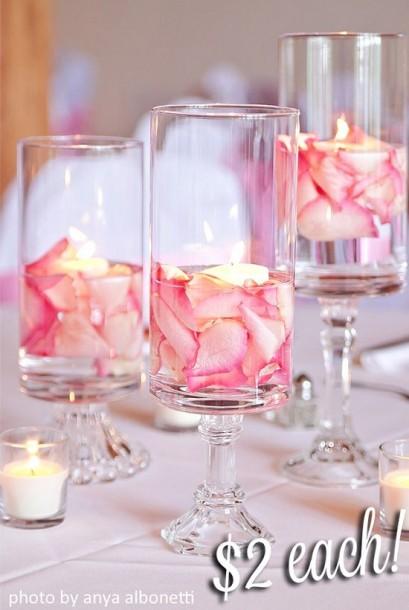 pink floral centerpiece
