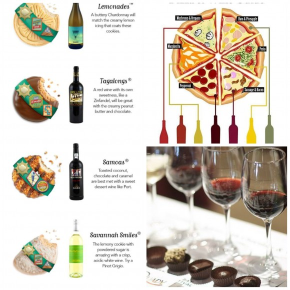 wine pairing Collage