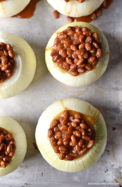 baked-beans-onion bowl