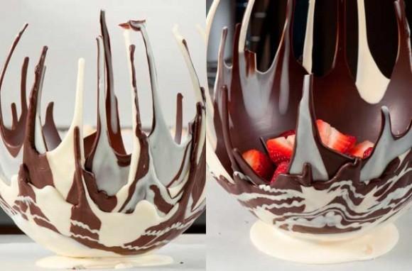 dripped chocolate bowl