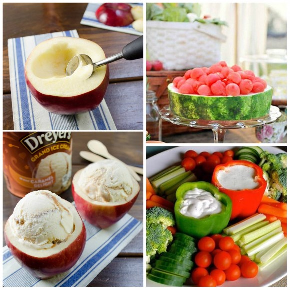 edible bowls Collage