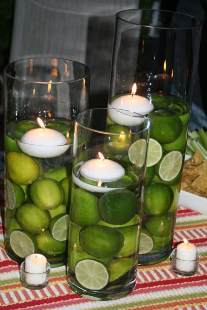 lime candle centerpiece