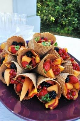 waffle cone for fruit