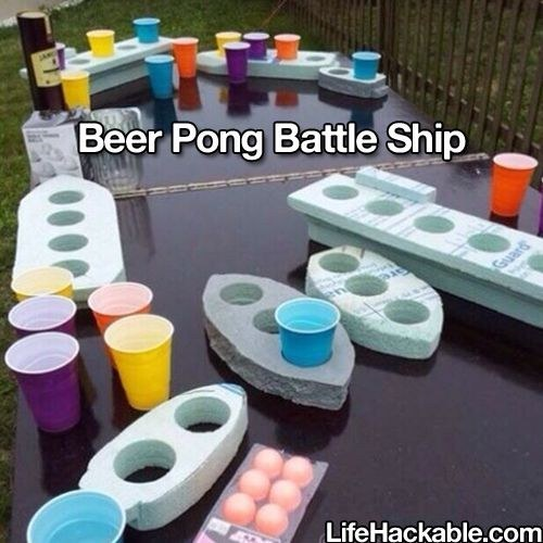 beer pong battle ship