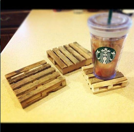 mini wood pallet coasters