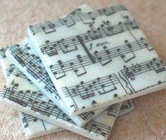 sheet music coasters