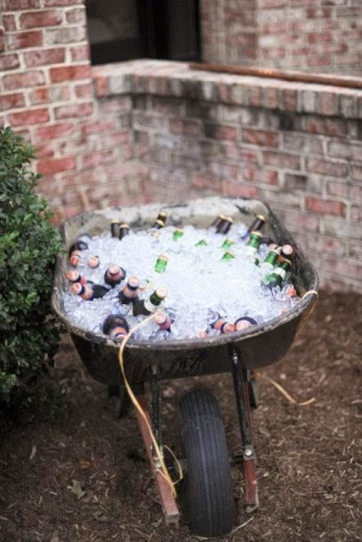 wheelbarrow beer cooler
