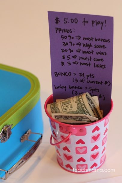 bunco prize pot