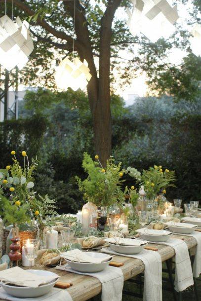Perfect Garden Party Table Setting