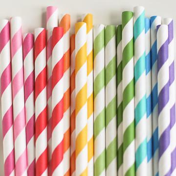 rainbow paper straws