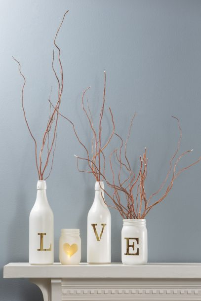 love vase wine bottle