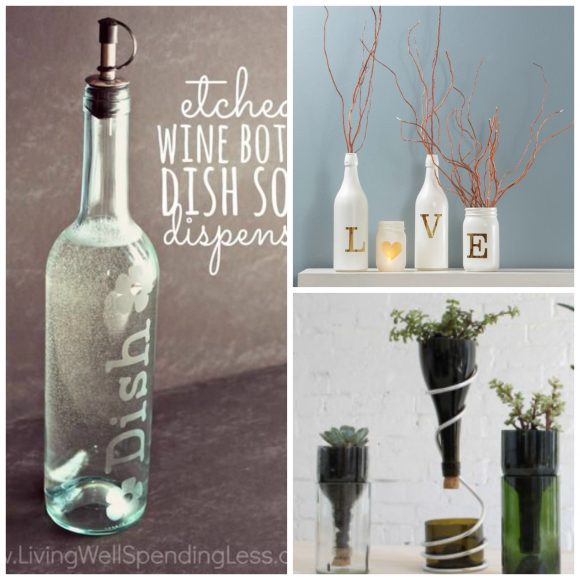 wine bottles Collage