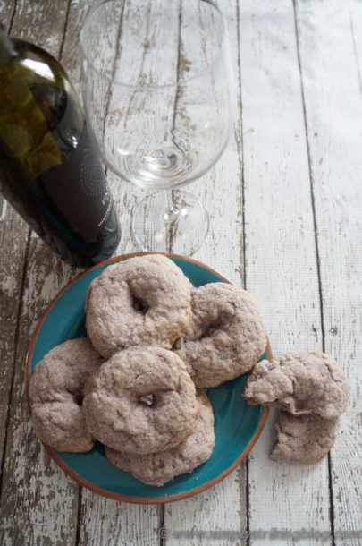 red wine cookies