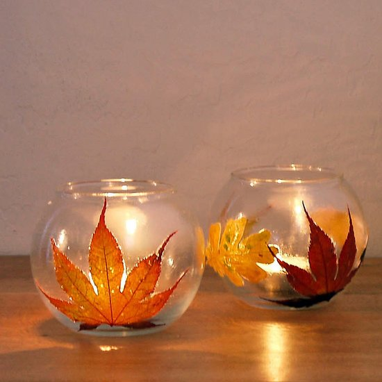 leaf-candle-holders